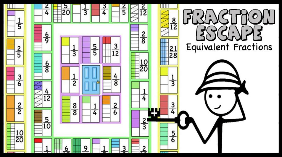 Fractions Escape (equivalent fractions)