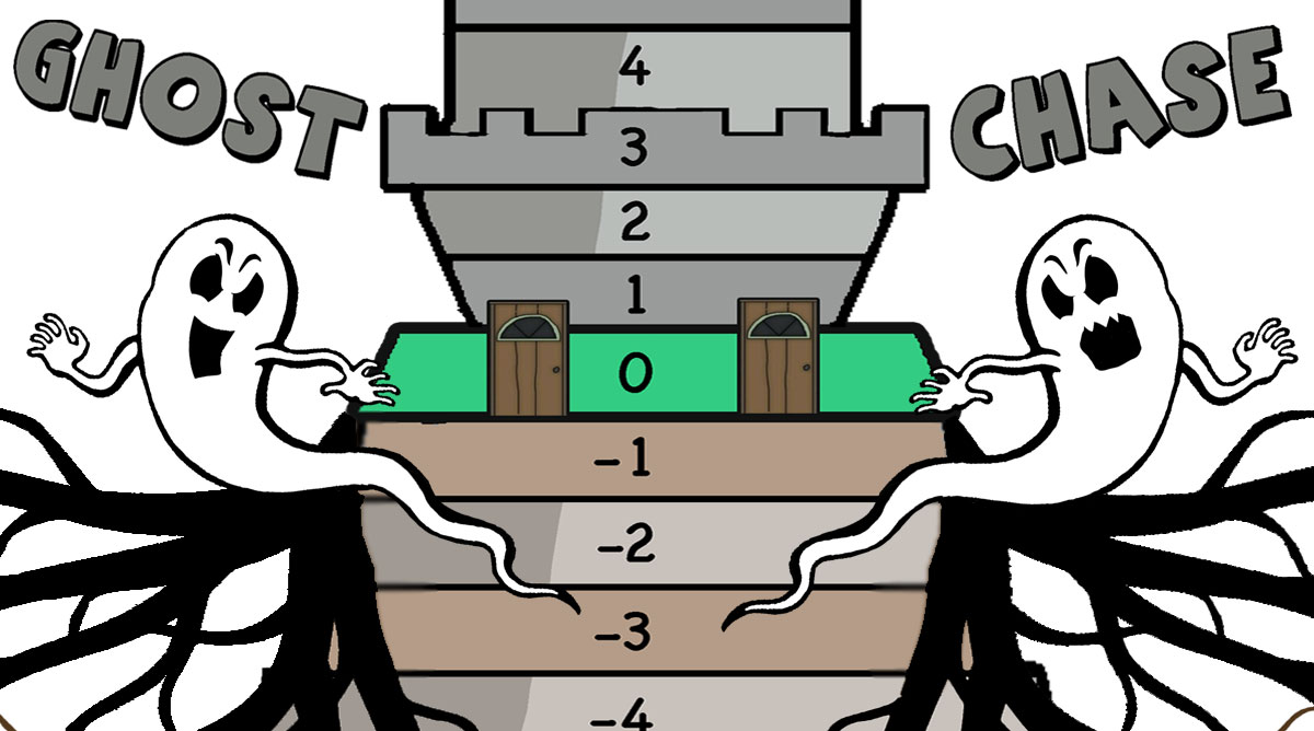 Ghost Chase game – Positive and Negative integers (+google slides version)