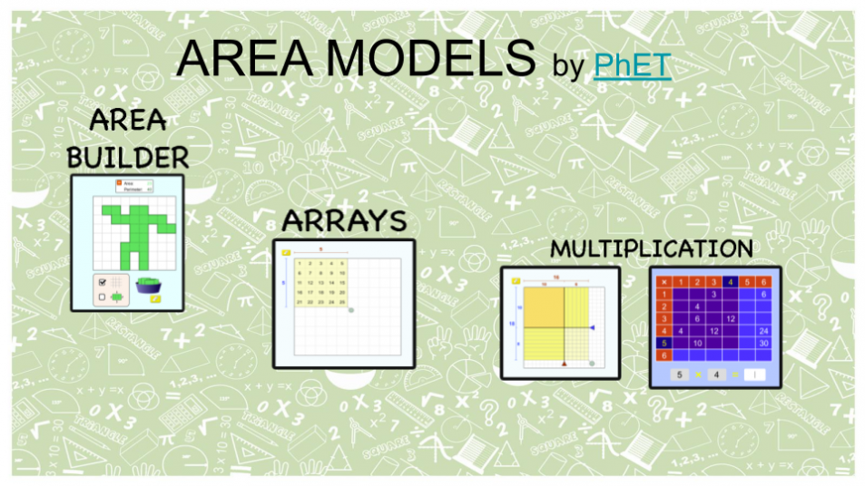 Area Models and Multiplication – Virtual Manipulatives and games