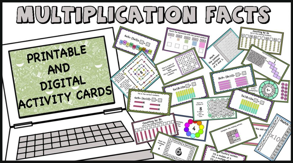 Multiplication Facts  Activity-cards (Google slides version included)