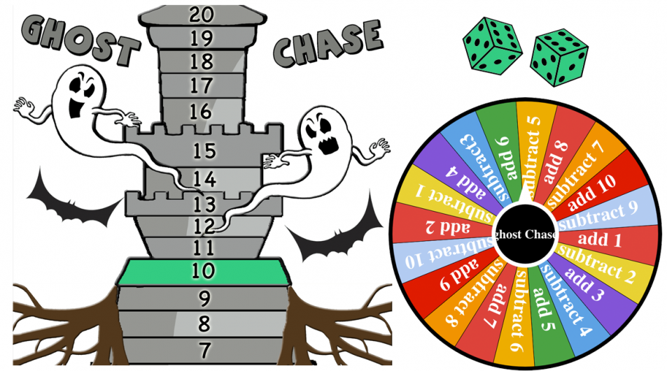 Ghost Chase – Addition, subtraction to 20 (+google slides version)