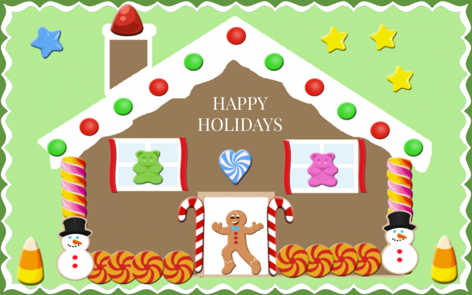Decorate a Gingerbread House, train, tree, …