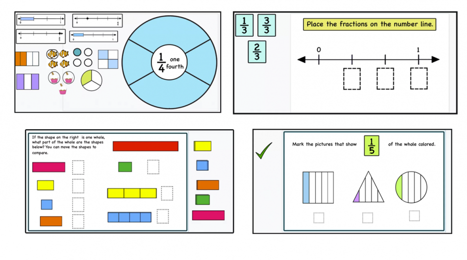 Introducing Fractions- misconceptions, print, and digital activity cards.