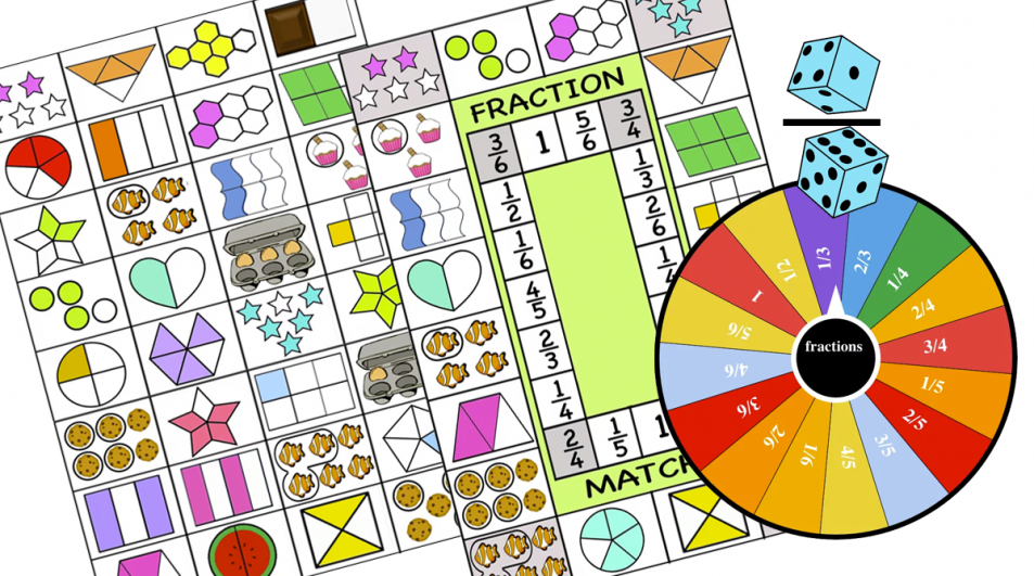 Introducing Fractions Multiplayer games –  print and Digital