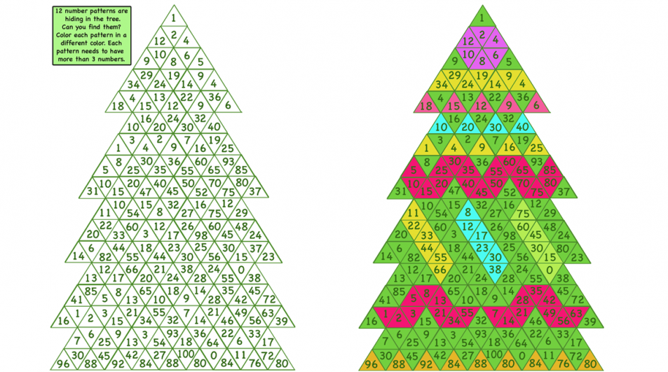 Patterns in the tree. Print and digital activity.