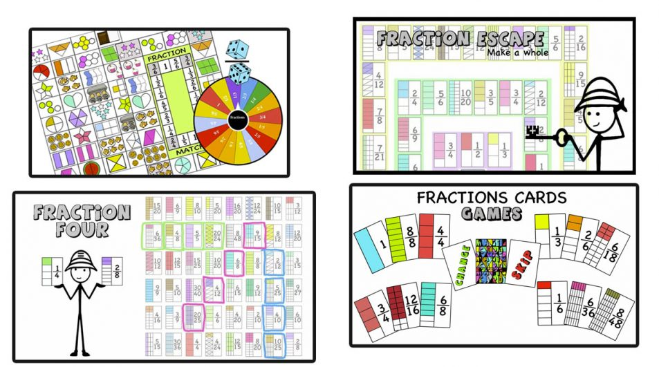 Fractions  Games and activities – Equivalence, make 1, compare, add, subtract, like, unlike