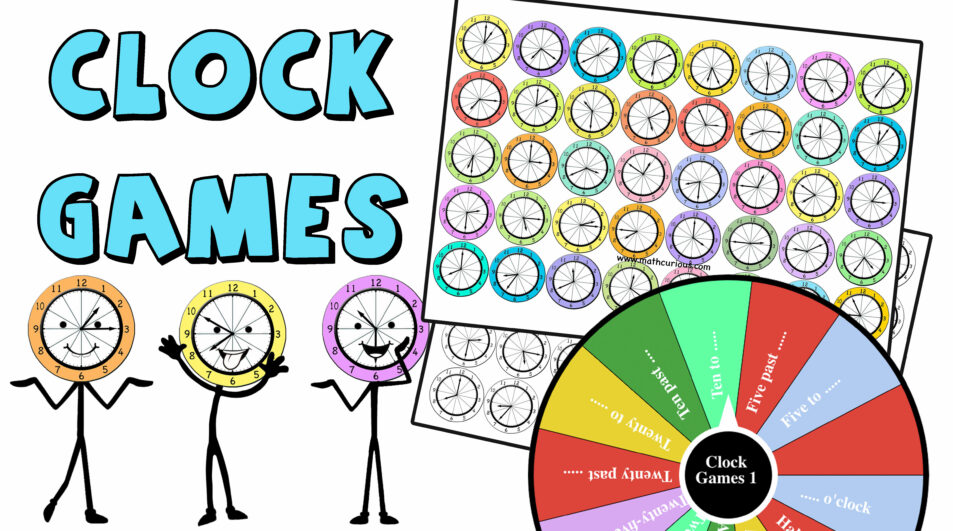 Clock Games 1-Learning Time-print and Digital