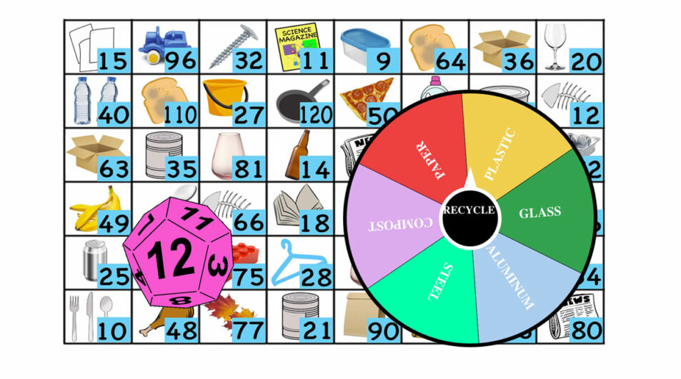 Earth Day Math Games-Recycle Spin