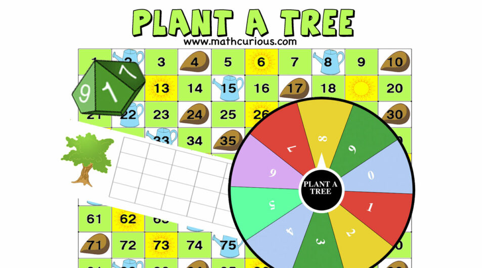 Earth Day Math games – Plant a tree Addition/subtraction