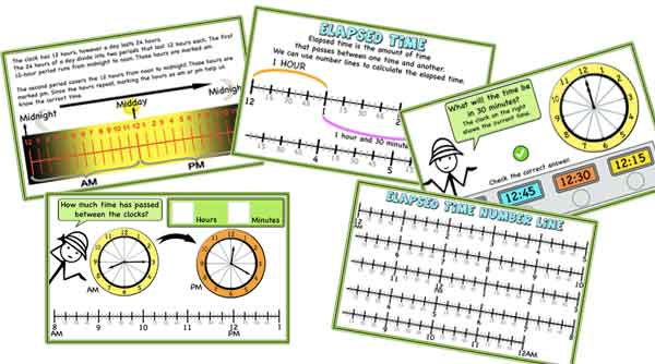 AM/PM, 24-hour clock, Elapsed Time – ideas, games, and activities